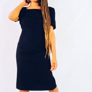 Vintage Silk Black Dress